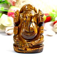 Tiger Eye Ganesha - 184 gms - I