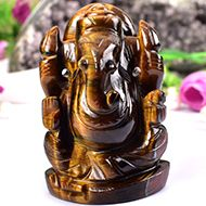 Tiger Eye Ganesha - 201 gms