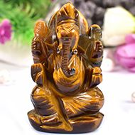 Tiger Eye Ganesha - 65 gms - I