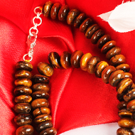 Tiger Eye Necklace - Elliptical Beads - I