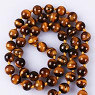 Tiger eye round mala - 11 mm