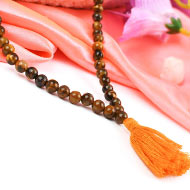 Tiger eye round mala - 6 mm