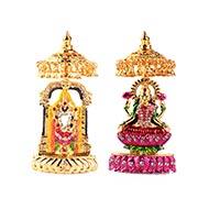 Tirupati Balaji and Maa Laxmi Idol Set