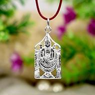 Tirupati Balaji Locket - in Pure Silver - Design II
