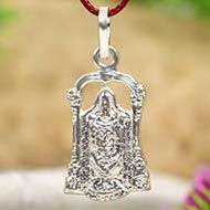 Tirupati Balaji Locket - in Pure Silver - Design IV