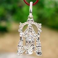 Tirupati Balaji Locket - in Pure Silver - Design V