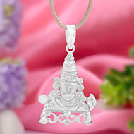 Tirupati Balaji Locket in Pure Silver - II