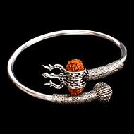 Trishul Designer Kada in Pure silver - II
