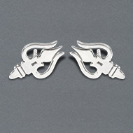 Trishul earrings in pure silver - I