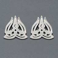 Trishul earrings in pure silver - III