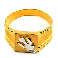 Trishul Gold Ring