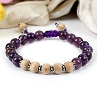 Tulsi and Amethyst bracelet