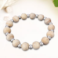 Tulsi bead bracelet with balls - 11mm