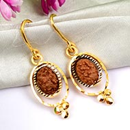 Two Mukhi Java Earrings in gold
