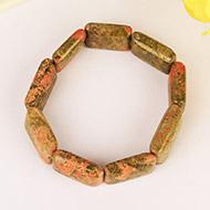 Unakite Beads Bracelet - Cushion Shape