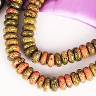 Unakite Necklace - Elliptical Beads