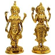 Vishnu Lakshmi statue in brass - I