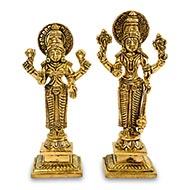 Vishnu Lakshmi Brass Statue