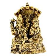 Vishnu Lakshmi Brass Murti