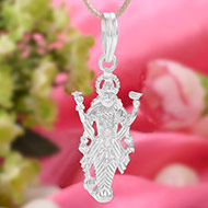 Vishnu Locket in pure silver