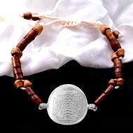 Vishnu Yantra in Silver Bracelet