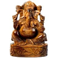 Tiger Eye Ganesha - 1.739 kgs