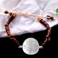 Vyapar Vriddhi Yantra in Silver Bracelet