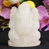 White Agate Ganesha - 104 gms