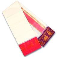 White color cotton Dhoti