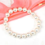 White Pearl Bracelet - 10mm
