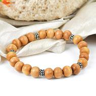 White Sandal beads bracelet