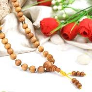 White Sandal beads Mala
