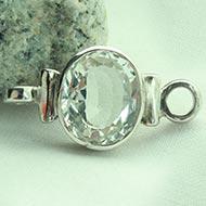 White Topaz bracelet in pure silver