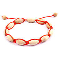 White Tulsi Bracelet - Drum Shape Beads