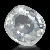 White Zircon - 3 to 4 Carats - Cushion