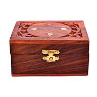 Wooden Rudraksha Chest - Small