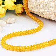 Yellow Agate Necklace - Elliptical beads