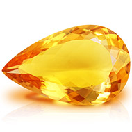 Yellow Citrine - 10.75 carats - Pear
