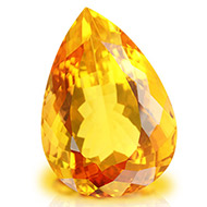 Yellow Citrine - 16.60 carats - Pear