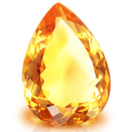 Yellow Citrine - 17.40 carats - Pear