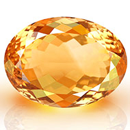 Yellow Citrine - 19.75 carats - Oval