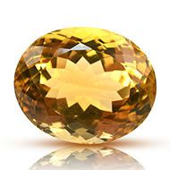Yellow Citrine - 22 carats - Oval