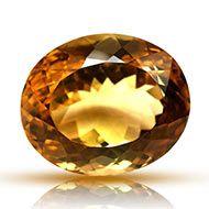 Yellow Citrine - 27.90 carats - Oval