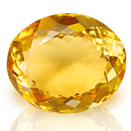 Yellow Citrine - 29.85 carats - Oval
