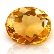 Yellow Citrine - 5 to 6 carats - Oval