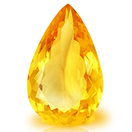 Yellow Citrine - 9.35 carats - Pear
