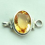 Yellow Citrine bracelet in pure silver