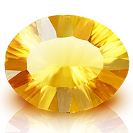 Yellow Citrine Superfine Cutting - 14.35 carats - Oval