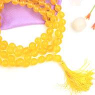 Yellow Jade Mala - 8mm