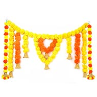 Yellow Orange Artificial Flower Bandarwal